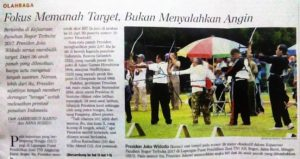Jokowi, panahan, hoax, dan ihwal angin.