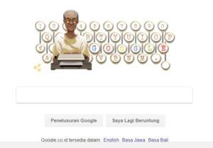 Google ikut memperingati hari lahir satu-satunya penulis Indonesia yang pernah diusulkan mendapat Penghargaan Nobel.