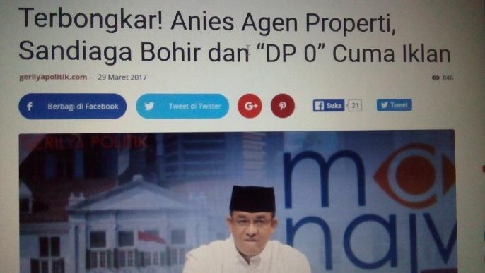 DP 0 Rupiah dan Iklan Gratis Rumah123.com di Mata Najwa
