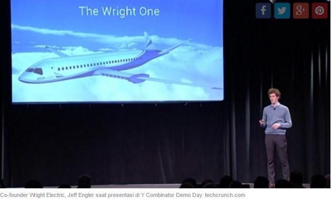 Wright Electric Tawarkan Pesawat Komersial Bertenaga Motor Listrik
