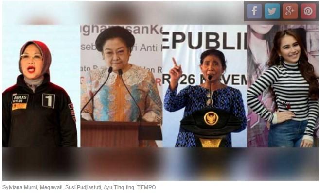 Perempuan Politisi, Pejabat, dan Artis Terbanyak Dikutip Media