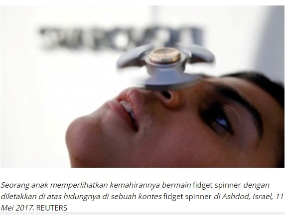Klaim Manfaat dan Bahaya Mainan Fidget Spinner