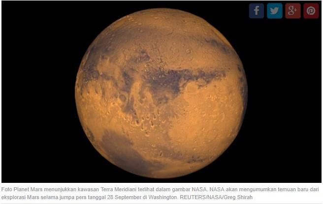 Tanah Planet Mars Terlalu Beracun bagi Kehidupan