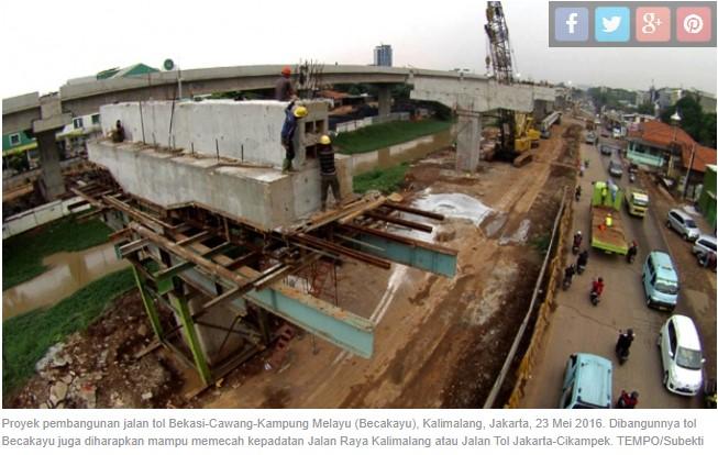 Siasati Kemacetan Akibat Pembangunan di Tol Arah Cikampek