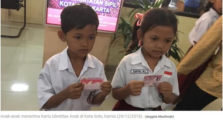 KTP Anak Banyak Insentif Ditargetkan Tuntas pada 2019