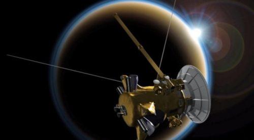 Wahana antariksa Cassini, yang mengorbit planet Saturnus dan mengakhiri misinya. (nasa.gov)